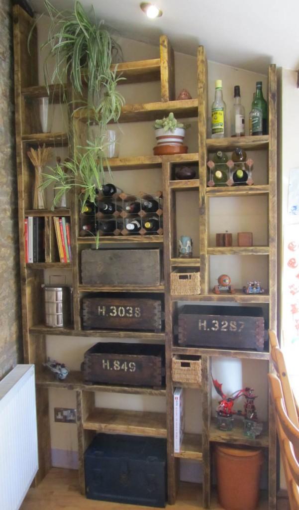 Reclaimed wood bespoke shelving solutions