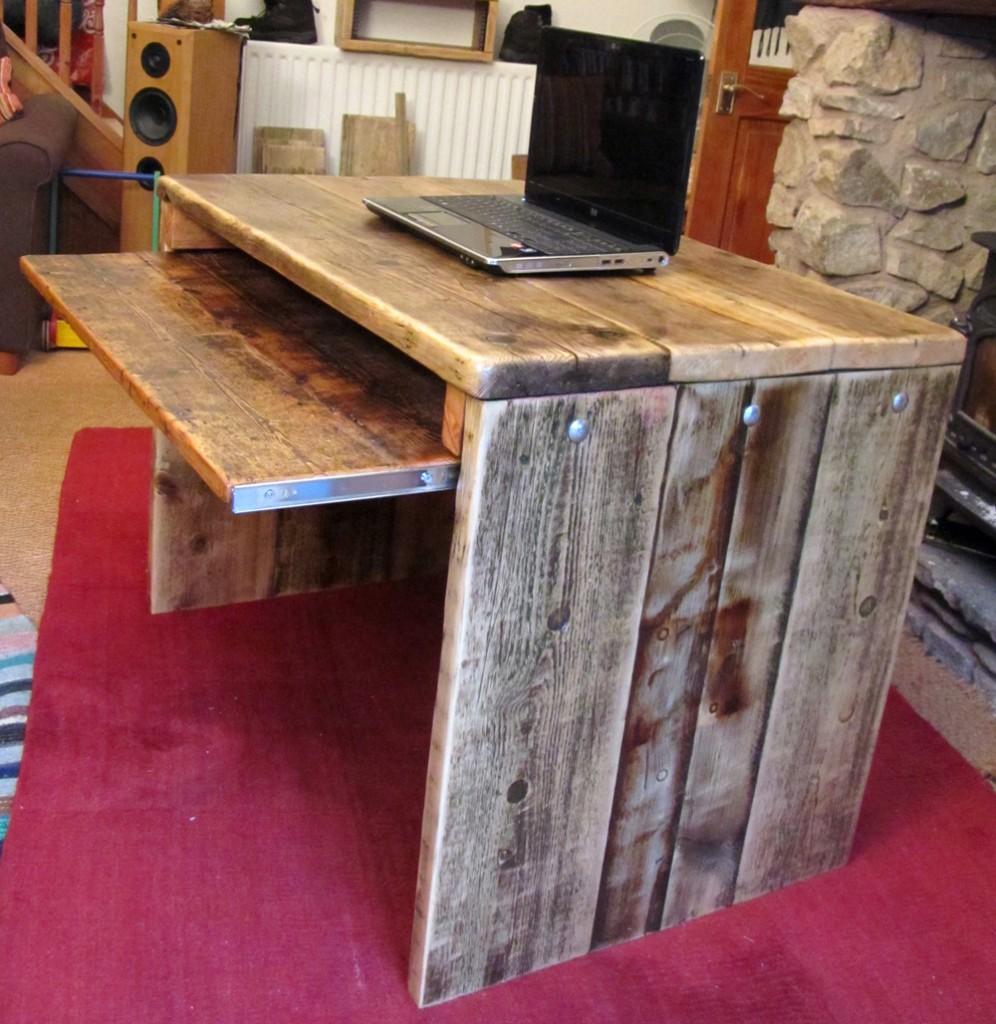 Reclaimed wood Computer desk