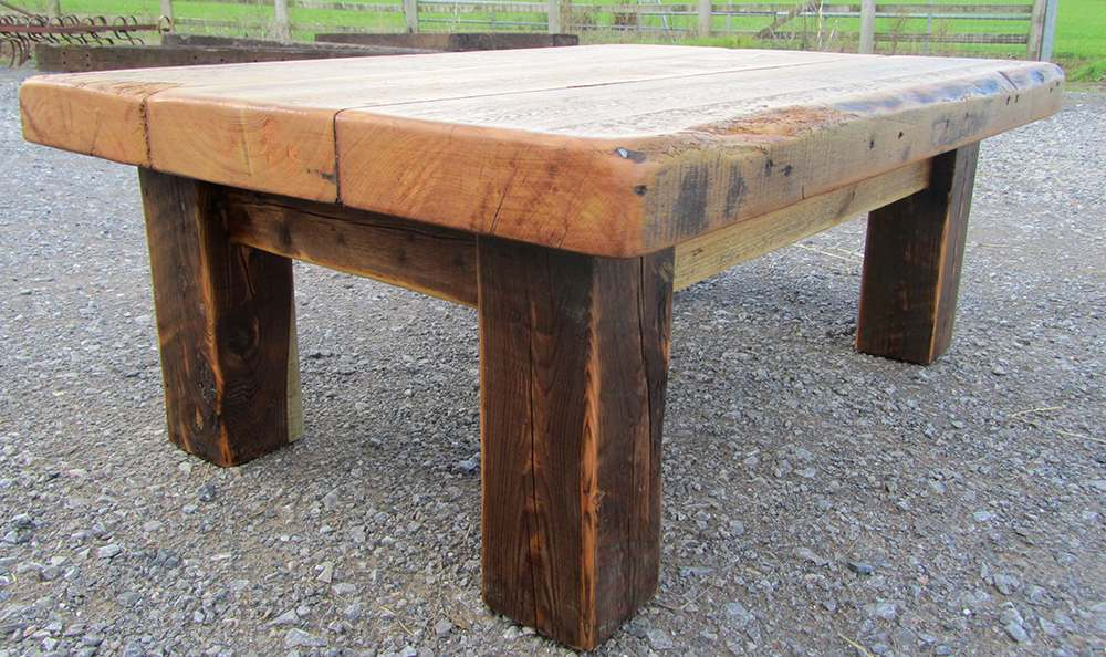 Warehouse joist coffee table