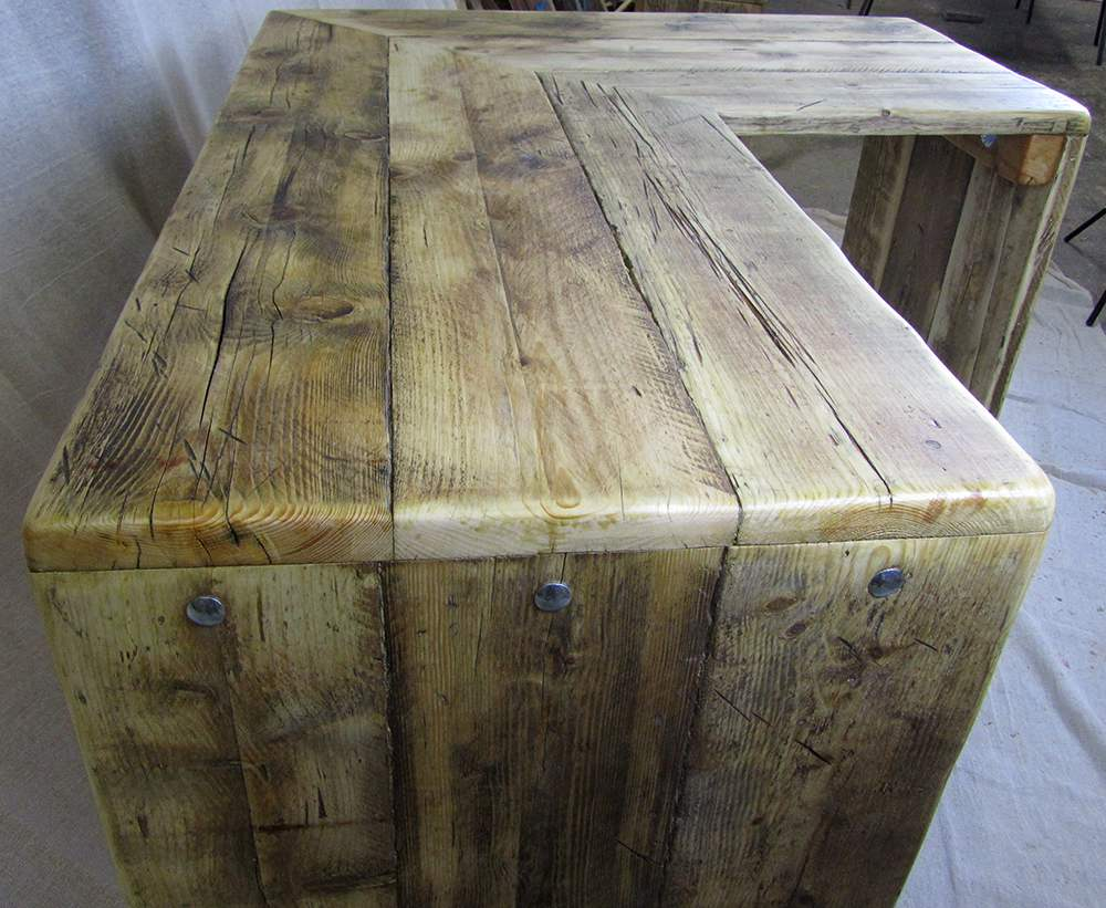 Corner desks chunky reclaimed furniture handmade in Reclaimed wood furniture colorado