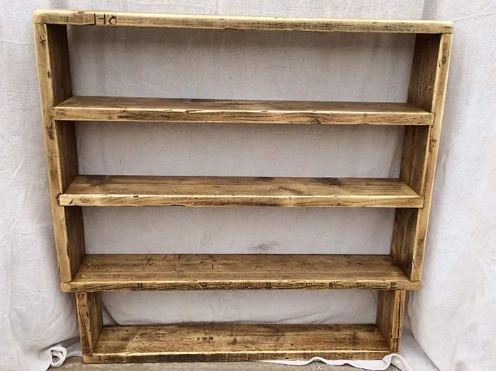 Reclaimed wood storage bookcase