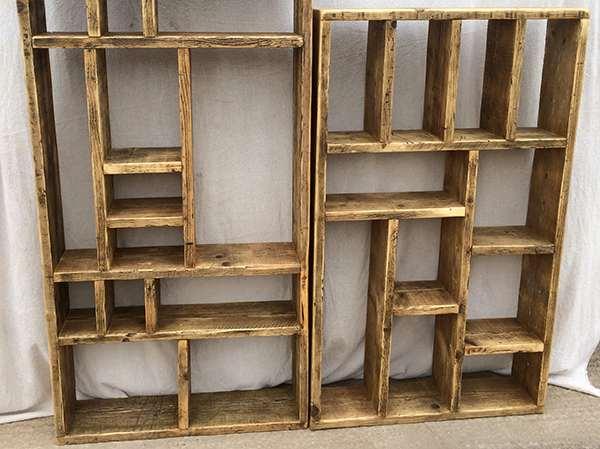 Reclaimed wood storage units