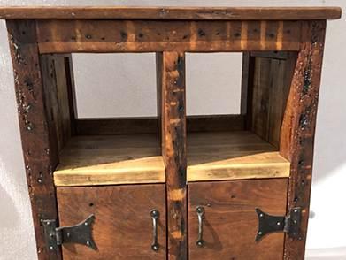 Reclaimed wood oak cabinet