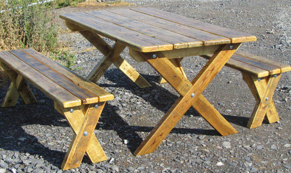 Garden Furniture Chunky Reclaimed Furniture Handmade In Somerset