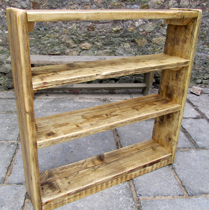 Reclaimed wood bookcases - square