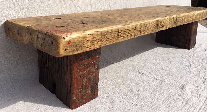 Reclaimed wood planter stand