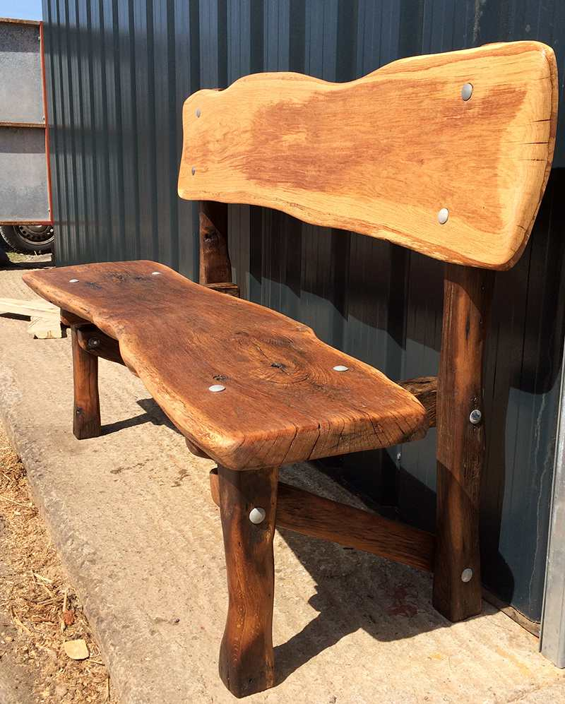 Cool Oak Bench Chunky Reclaimed Furniture Bespoke Furniture Pdpeps Interior Chair Design Pdpepsorg