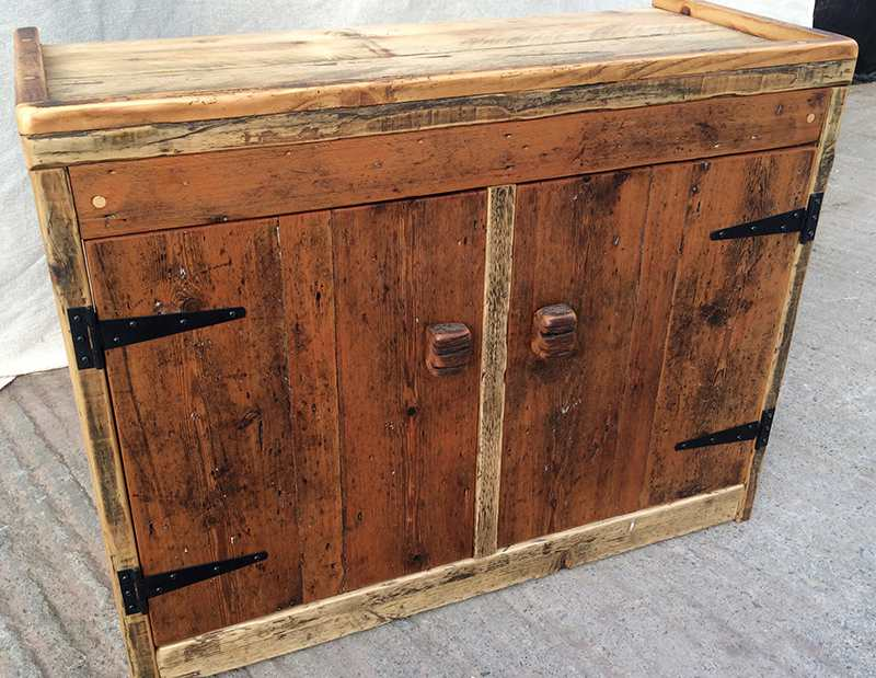 reclaimed wood cabinets