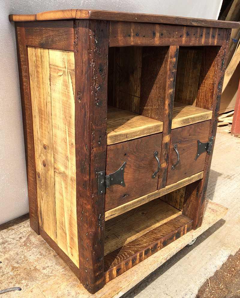 Oak framed cabinets